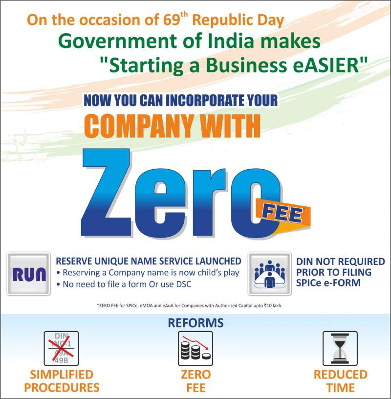 Highlights on Zero Government Fees for Company Registration